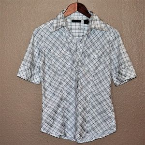 New York & Company Stretch Button-Down Top